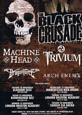 """BLACK Crusade POSTER """"Machine Head Trivium"""""""