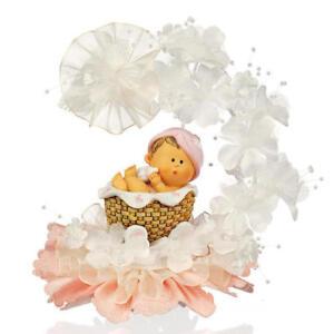 Tortenaufsatz/Tortendeko Taufe, Baby unter Blütenbogen