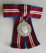 Canada The Queen's Diamond Jubilee Medal QDJM Miniature Size Ladies Bow Style