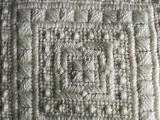 Vintage Hand-Crocheted Square Pillow