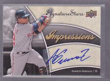 2009 Upper Deck Signature Stars Impressions Signatures #AG Alberto Gonzalez Auto