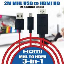MHL Micro USB to HDMI 1080P HDTV Cable Adapter for Samsung Galaxy S5 Note 4 & 3