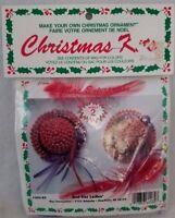 Vintage Merri Mac Christmas Kit #204-82 RED HAT LADIES Ornaments Makes 2