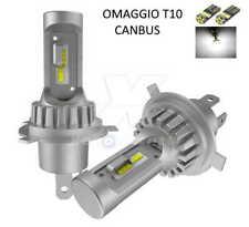Kit LED H4 CANBUS 10000LM 6000K 2x Lampadine OMOLOGATE SLUX + T10 OMAGGIO