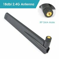18 dbi 2.4Ghz WIFI Antenna RP SMA Male Amplifier WLAN Router Connector Booster