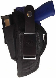 """Browning 1911-380 Compact (3 5/8"""" barrel) Gun Holster w/ Mag Pouch Ambidextrous"""