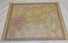 1850 Antique Color Map / Russia In Asia, and Tartary