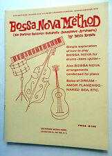 BOSSA NOVA METHOD Songbook for DRUM BASS GUITAR Milt ROGERS Criterion 1962 MUSIC