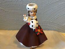 Vintage Christmas Headvase Planter Relpo Lady Gifts Shopper Head Vase Red White