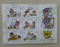 2018 ALDERNEY WOMBLES SET OF 6 STAMPS MINI SHEET
