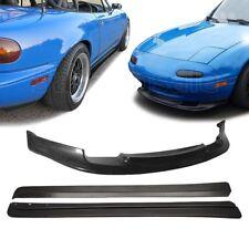 2 x Combo for 90-97 Mazda Miata MX5 VIP GV Front + FD Side Skirts PU Bumper Lip