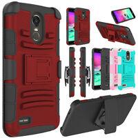 For LG Stylo 4/Stylo 3 Plus Case Hybrid Belt Clip Holster Kickstand Phone Cover