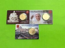 3 coincards Vatican avec pièce de 50 cts