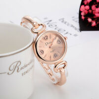 Fashion Women Watch Steel Crystal Bangle Cuff Bracelet Quartz Wristwatch Gift