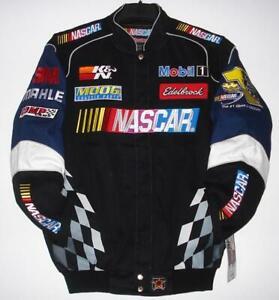 Nascar Generic  JH Design Black  Navy Cotton  Twill Jacket new