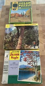 Vintage Puzzle Lot Set Of 3 TUCO, Whitman Deluxe Guild, MB Coventry