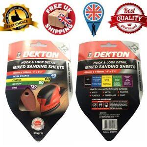 Dekton Detail Palm Sanding Pads Mouse Sheets 40 60 80 120 Mixed hook & loop