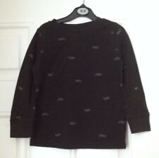 GAP boys black long sleeves t-shirt 100% cotton age 4 yrs