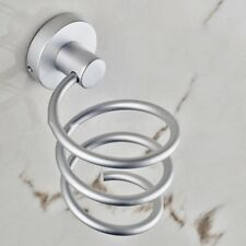 Spiral Wall Mounted Hair Dryer Storage Organizer Rack Holder Hanger for Bathroom