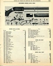 1964 Print Ad of Mossberg Model 400 & 400A Rifle Parts List