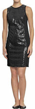 NEW WOMENS OLD NAVY SEQUIN FRONT PONTE KNIT DRESS SZ S in black jack