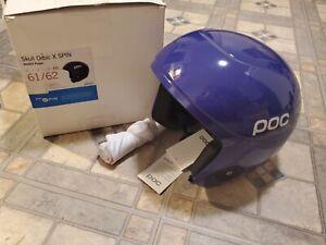 NOS POC Skull Orbic X Spin High Speed Ski Race Helmet- XXL 61/62. Ametist Purple