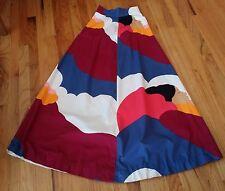 Vintage Handmade Skirt Native American Print LONG UNIQUE!
