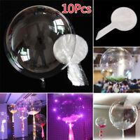 10pcs/set Bobo Balloons Marriage Xmas Wedding Party Decor New Year Clear