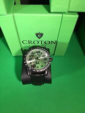 Croton CX328005 Mens Analog Silver Dial Watch