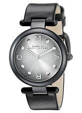 NEW Marc Jacobs MJ1410 Dotty Black Leather Strap Women's Watch