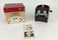 Rare Vintage Nestor Johnson Mfg Co Model 5-P Card Shuffler 1950s