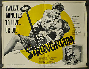 STRONGROOM 1962 ORIGINAL 22X28 MOVIE POSTER COLIN GORDIN JOHN CHAPELL ANN LYNN