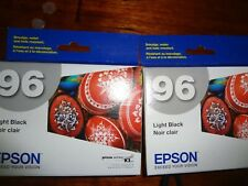 LOT OF 2 NEW GENUINE EPSON 96 T096720 T0967 LIGHT BLACK INK STYLUS PHOTO R2880