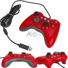 Red Wired Game Controller Joystick for Microsoft XBOX 360 Slim PC Computer US