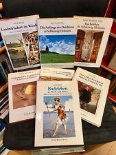 Sammlung 7 gebundene *Kleine SCHLESWIG-HOLSTEIN-Bücher* (aus Raucherhaushalt)