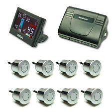 "Car radar parking 8 sensor system 2.5"" LCD simutaneously detection (Silver) 902S"