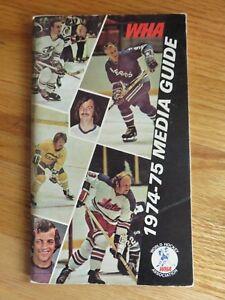 1974-75 WHA World Hockey Association Media Guide GORDIE HOWE Bobby Hull CHEEVERS