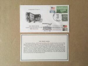 1978 WHITE HOUSE 186th Ann/1985 INAUGURATION KMC Venture 2x Cancel Cover LE/300