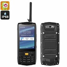 Rugged Android 6.0 Smartphone/5MP Cam/IP68/ Quad-Core CPU/Walkie Talkie Feature.