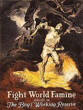 Propagande de garçons qui travaillent réserve famine relief Art Poster Print lv6955
