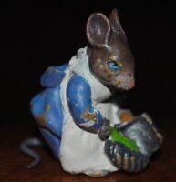 Beatrix Potter Painted Bronze Vienna Cold Mouse Miniature Rare Size