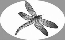 """4""""X 6"""" Dragonfly static cling etched glass window decal for vehicles and home"""