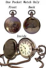 **Legit** Fullmetal Alchemist State Alchemist Metal Cosplay Pocket Watch #7705