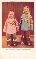 Chinese Girls, Chinatown, San Francisco, California ca 1907 Vintage Postcard