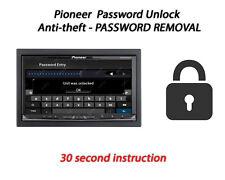 Password Unlock For Pioneer AVIC-Z920DAB AVIC-Z820DAB