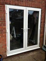 White uPVC FRENCH DOORS | MADE TO MEASURE / UNGLAZED / BRAND NEW | FREE DELIVERY