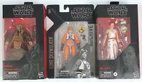 Star Wars Black Series Bundle Action Figures Zuckuss Luke Skywalker Rey D-O NEW