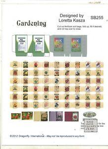Kit - Gardening Supplies Sheet SB255 dollhouse miniature Dragonfly 1/12 scale