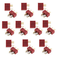 20pcs Anti-skidding Plug T Deans Connector Male & Female For LiPo RC Battery ESC
