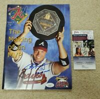 Chipper Jones Signed Magazine 99 NL MVP  Atlanta Braves Fan Jsa Coa
